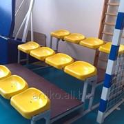 Сидение для стадиона пластиковое без спинки Ультра фото