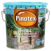 Pinotex Impra, пропитка глубокого проникновения для скрытых конструкций, зеленый, 10 л. фото