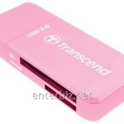 Кардридер Transcend (TS-RDF5R) розовый USB, код 127379 фото