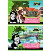 Альбом для рисования 24 л GUESS with JESS, на скрепке, 2 диз., (ACTION!) фото