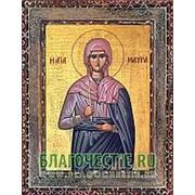 Благовещенская икона Мавра, святая, копия старой иконы, печать на дереве Высота иконы 11 см фото