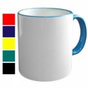 Кружка с цветной каймой , подарки и сувениры фото