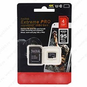 MicroSDHC Disk Extreme Pro 4 GB + фото