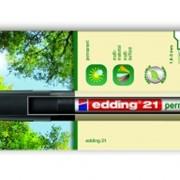 Перманентный маркер EcoLine, круглый, 1,5-3 мм, блистер Черный фото