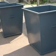 Контейнер для мусора металлический 0,75 м. куб фото