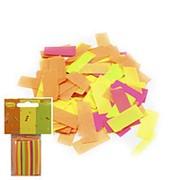 Конфетти бумажное Прямоугольники ассорти 2х5см 19,5г фото