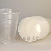 """Пластиковый одноразовый стакан """"Идеал"""", 200 мл, 100 шт/уп, прозрачный фото"""