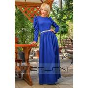 Длинное платье Платье в пол (816/Л)/ Электрик / пояс в комплекте фото