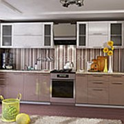 Кухонный гарнитур белый металлик кофе с молоком глянец модульная система фото