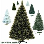 Искусственные новогодние елки, сосны фото