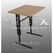 Стол аудиторный ученический школьный, регулируемый по высоте одноместный для школьника любого возраста фото