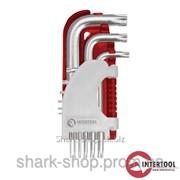 Набор Г-образных ключей TORX 9шт., Т10-Т50, Cr-V, Small HT-1821 фото