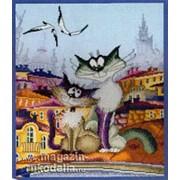 """Набор для вышивания """"Кошачьи нежности"""" по рисунку А. Майской фото"""