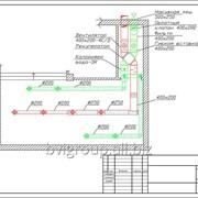 Монтажная схема системы вентиляции бассейна — 57м2. фото
