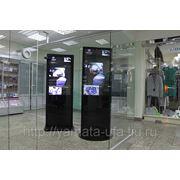 Торговые стойки с LCD, видео трансляции фото