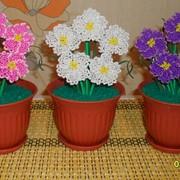 Цветы из бисера фото