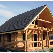Изготовление домов, бань, беседок из оцилиндрованных бревен фото
