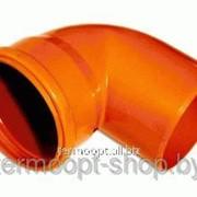 Колено канализационное 110/90 оранжевое фото