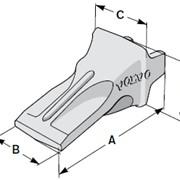 Коронка (зуб, наконечник) ковша, адаптер, фиксатор экскаваторов VOLVO фото