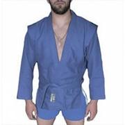 AX5, Куртка для самбо ёлочка синяя, Р: 28/120 фото