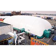 Воздухоопорное сооружение для проведения выставок. фото