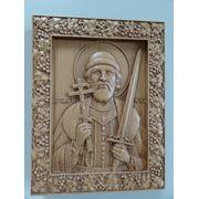 Икона резная- Святой Князь Игорь фото