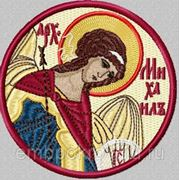 Икона Архангела Михаила - дизайн для машинной вышивки фото