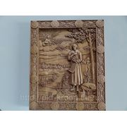 Икона резная- Святой Семен Верхотурский фото