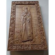 Икона резная мерная-Святой Василий Великий фото