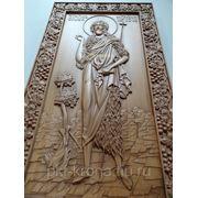Икона резная мерная-Святой Иоанн Предтеча фото