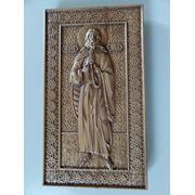 Икона резная ростовая-Святой Илья Пророк фото
