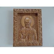 Икона резная- Святой Николай Чудотворец фото