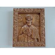 Икона резная- Святой Николай Чудотворец Мирликийский фото