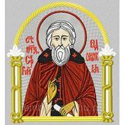 Икона ПР Сергий Радонежский - дизайн для машинной вышивки фото