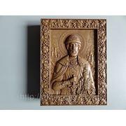Икона резная-Святой Дмитрий Донской фото