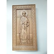 Икона резная ростовая-Святой Дмитрий Донской фото