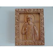Икона резная- Святой Князь Владимир фото