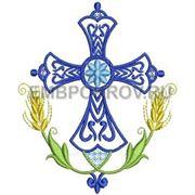 Крест 21 -дизайн для машинной вышивки фото