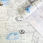 Подарочная упаковка крафтовая Карта фото