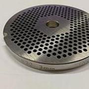 ZI3203.01P Решетка #32 для промышленной мясорубки системы ENTERPRISE (D=99/13mm, раб. отв. 3mm) фото