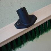 Щётка для чистки пола,50 см,деревянная,с фланцем под черенок. фото
