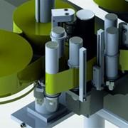Автоматические аппликаторы (этикетировщики) для нанесения самоклеющейся этикетки. Установка на карусель или транспортер. Горизонтальные и вертикальные. фото