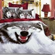 Постельное белье arya сатин 3d-siberian wolf двуспальный евро фото