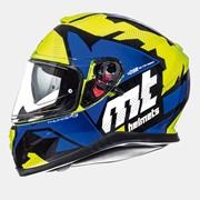 Мотошлем MT Thunder 3 Torn Yellow/Blue фото