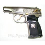 Пистолет МР-80-13Т «Макарыч» никель, герб фото