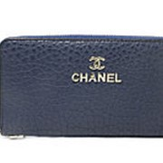 Кошелек женский на молнии Chanel синий фото