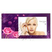 Стеклянная рамка для фотографии 10х15, фоторамка, ЦВЕТ ЦВЕТОВ, фиолетовая GF 2518 фото