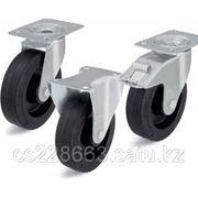 Большегрузные колеса с эластичной резиновой шиной, с основанием колеса из полиамида фото