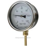 Биметаллические термометры осевые ТБУ 63 фото