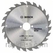 Пила дисковая по дереву Bosch 190x20/16x24z Optiline ECO фото
